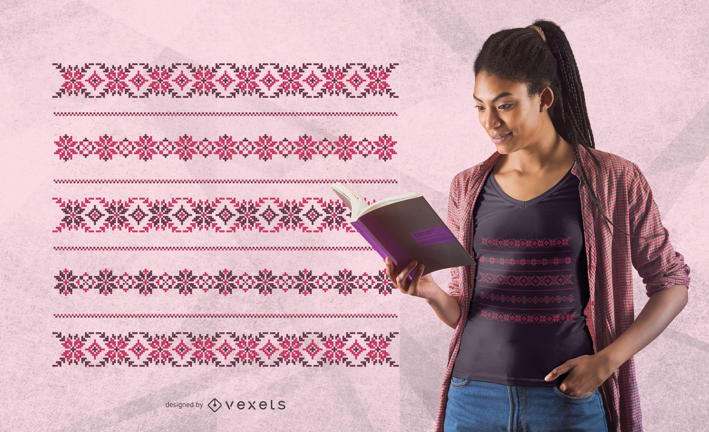 Diseño de camiseta con estampado romano