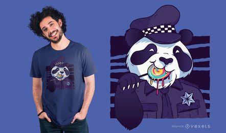 Policeman Panda t-shirt design