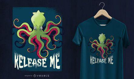Kraken liberta-me design de t-shirt