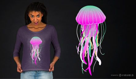 Electric jellyfish t-shirt design