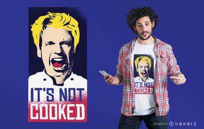 Diseño de camiseta sin cocinar.