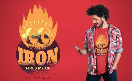 Diseño de camiseta de fuego de hierro