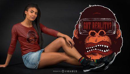 Gorilla-Realitäts-T-Shirt Entwurf