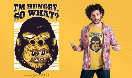 Gorilla hungry design de t-shirt
