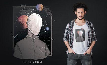 Diseño de camiseta del futuro Galaxy.