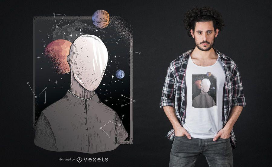 Galaxy future t-shirt design