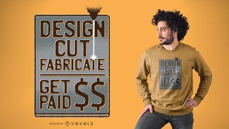 Fabricar o design do t-shirt das citações