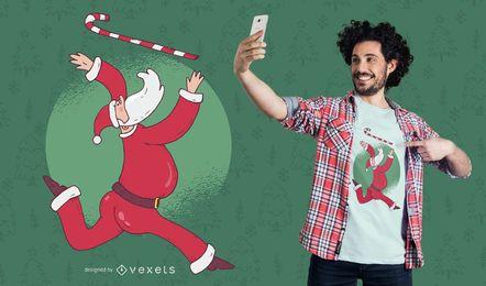 Diseño de camiseta de Santa Baton Twirling