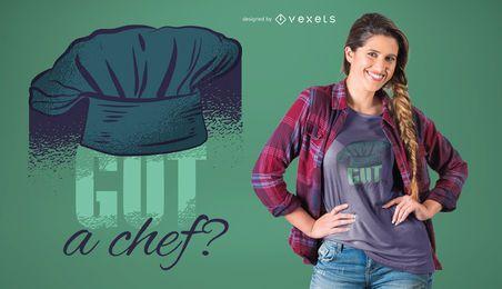 Tem um design de t-shirt de chef