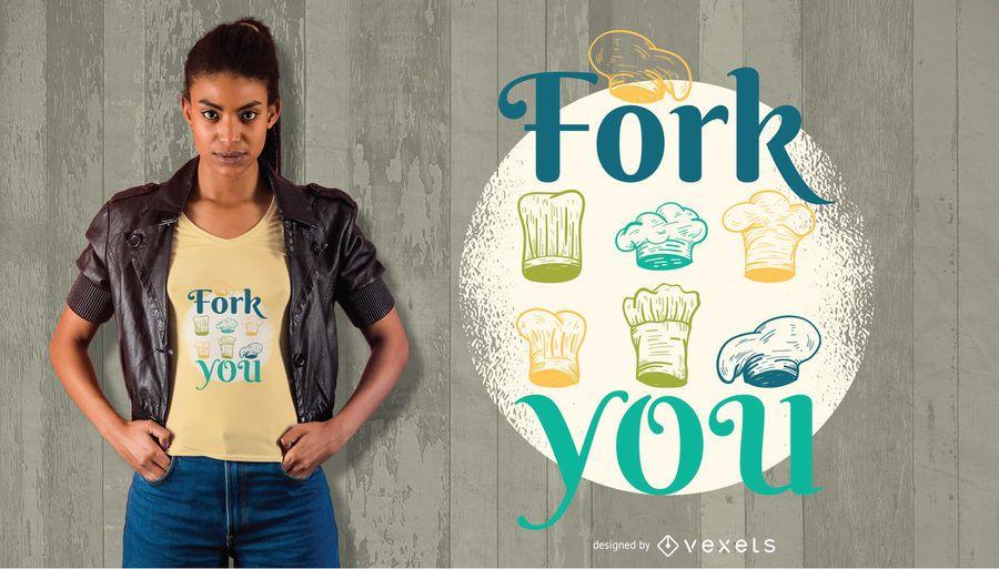 Fork você design de t-shirt