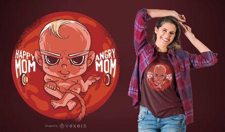 Design de t-shirt de bebê ruim