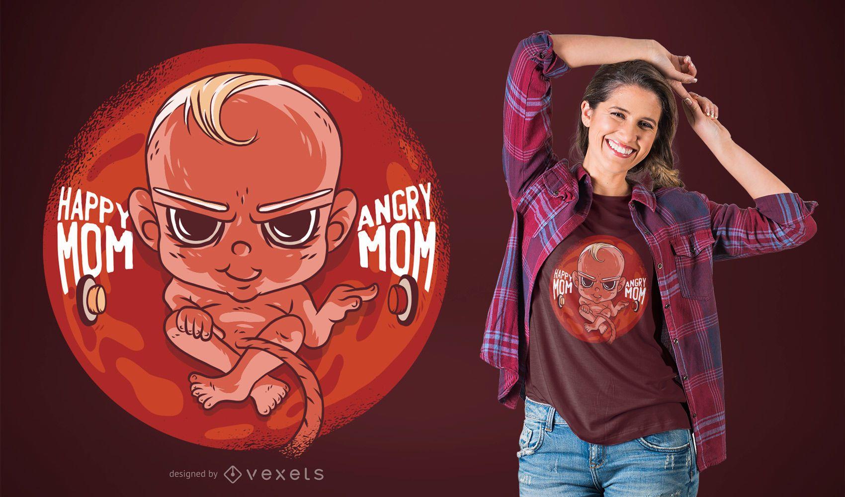 Bad baby t-shirt design