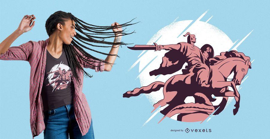 Barbarian warrior t-shirt design