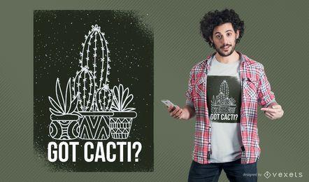 Erhaltenes Kakteen-T-Shirt Design