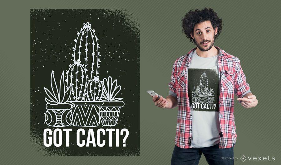 Obteve o design do t-shirt dos cactos