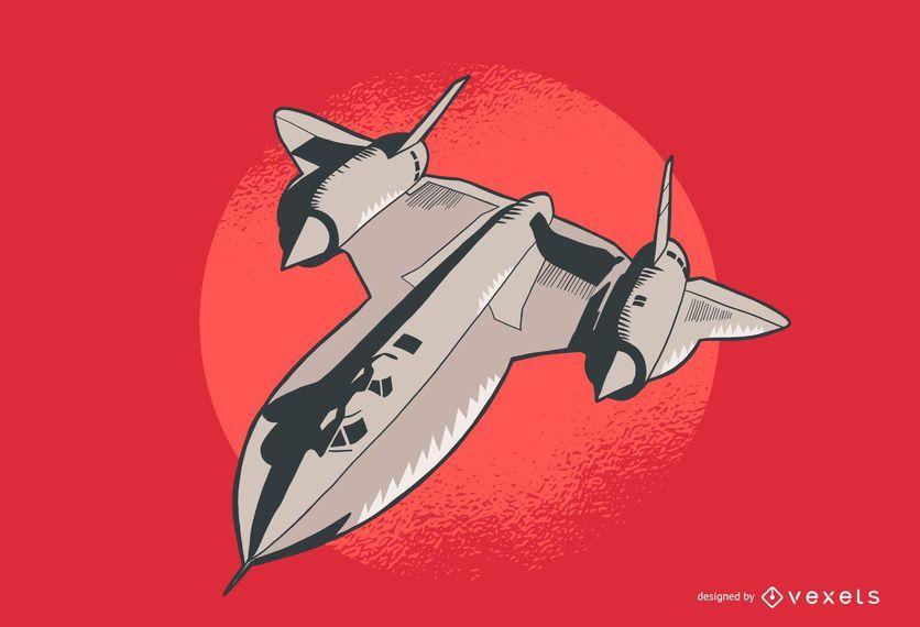 Ilustração de avião Lockheed