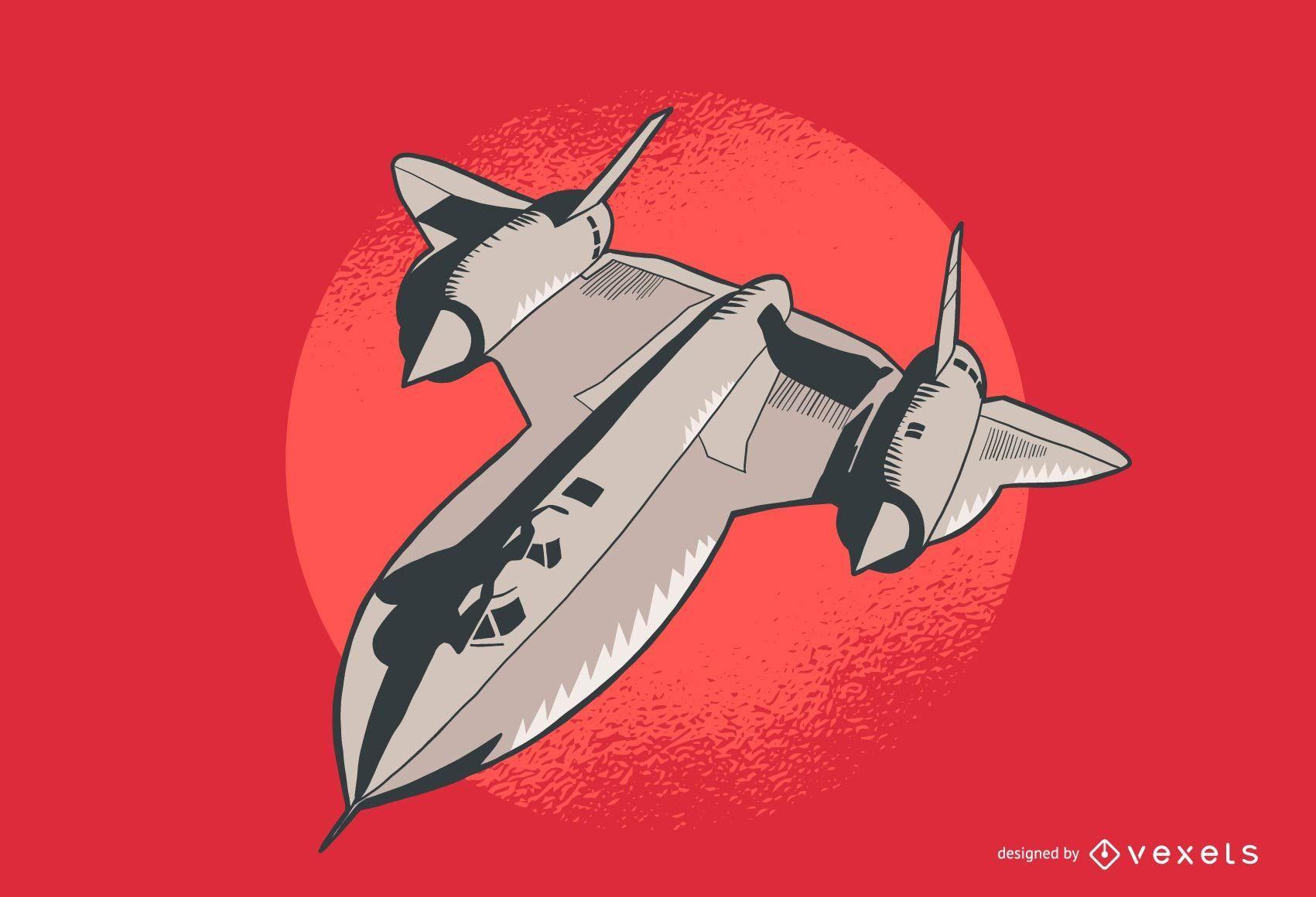 Lockheed airplane illustration