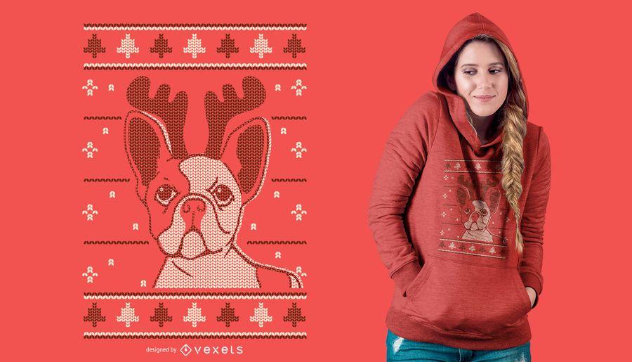 Christmas dog t-shirt design