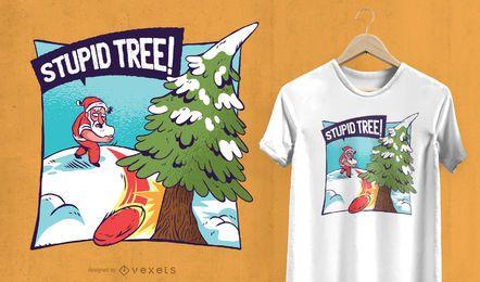 Estúpido diseño de camiseta de árbol de Navidad