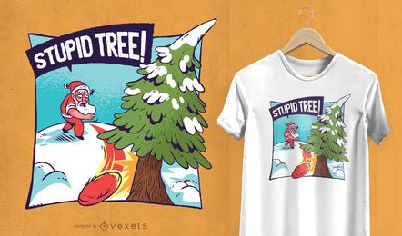 Stupid Christmas tree t-shirt design