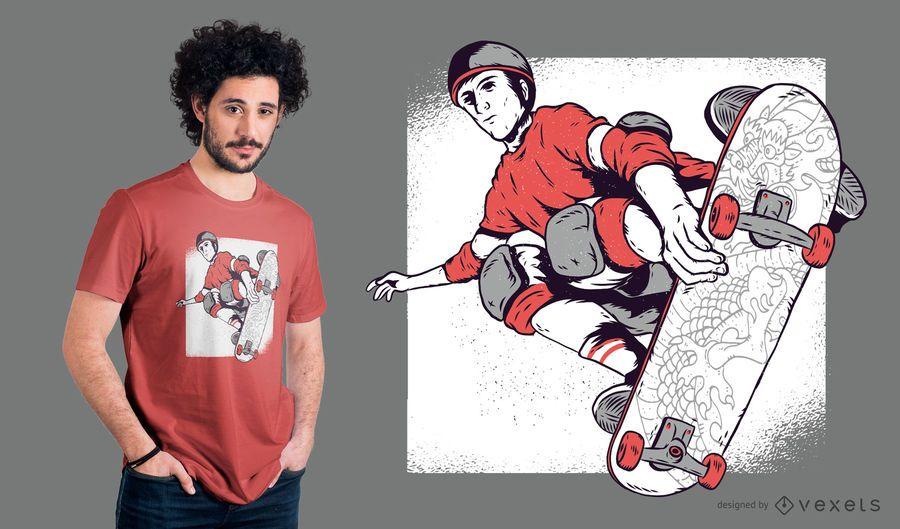 Design de t-shirt patinador vintage