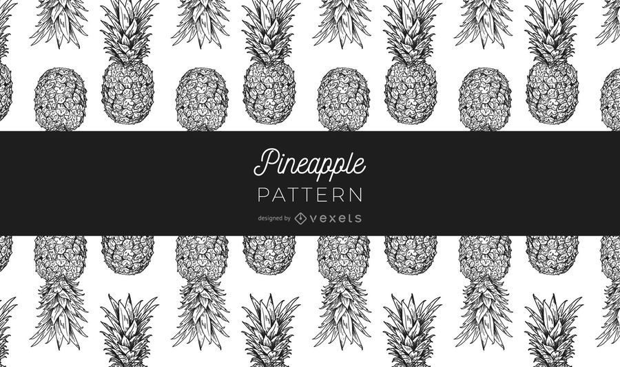 Black and white pineapple pattern