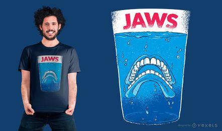 Projeto do t-shirt dos dentes da maxila