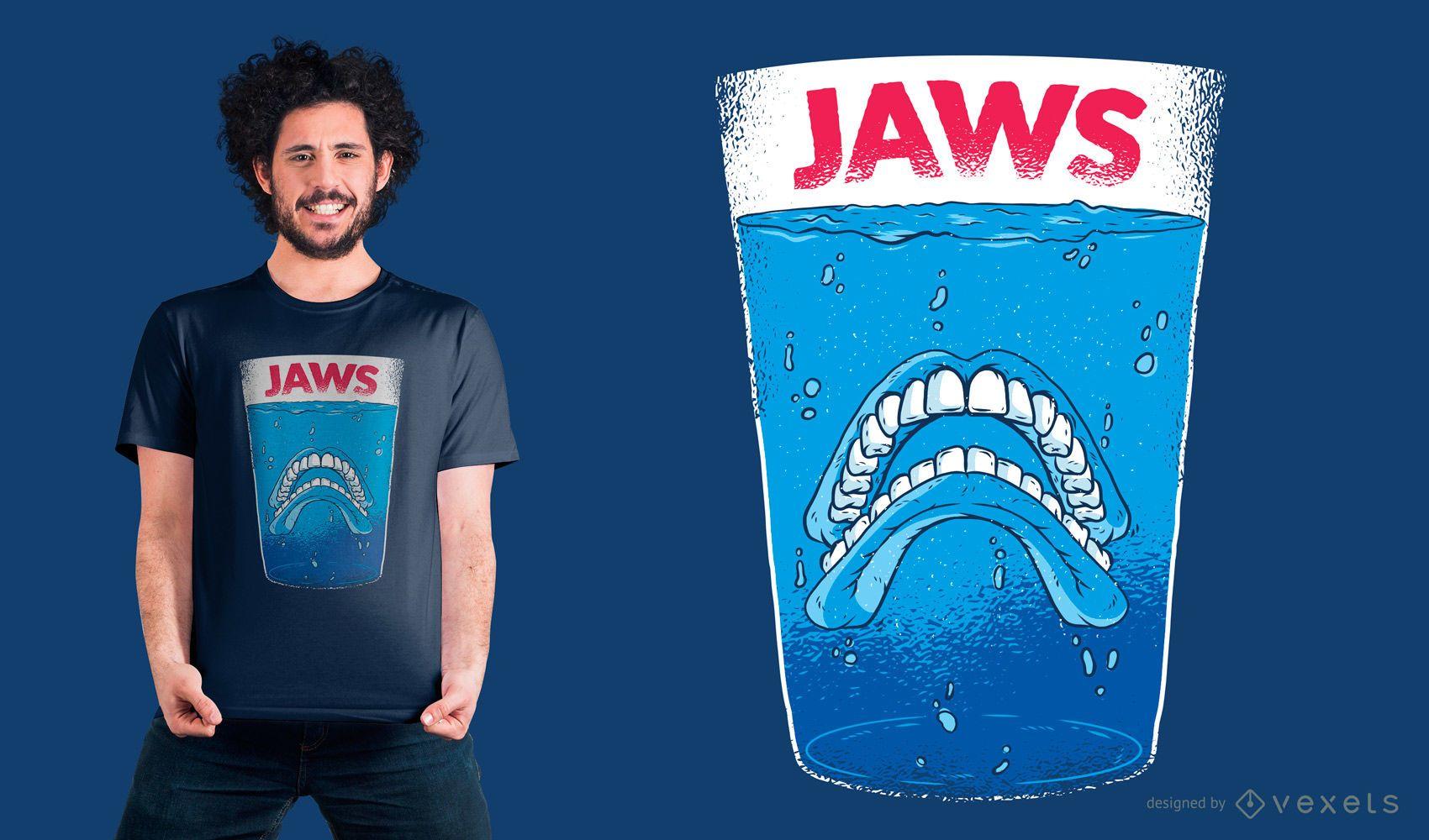 Diseño de camiseta de dientes de mandíbulas.