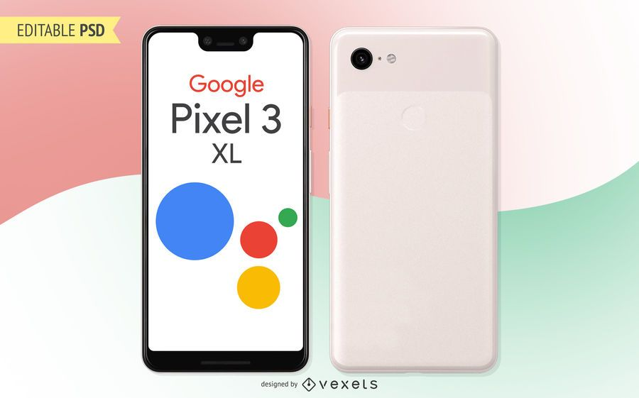 Google Pixel 3 XL PSD mockup
