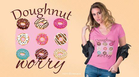 Design do t-shirt da preocupação da rosquinha