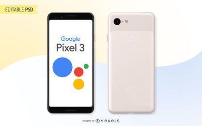 Google Pixel 3 PSD-Modell
