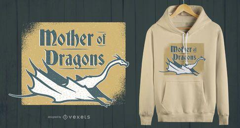 Diseño de camiseta Mother of Dragons