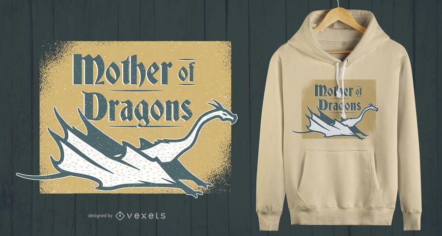 Diseño de camiseta Madre de Dragones