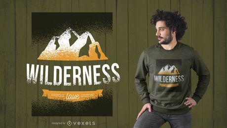 Projeto do Tshirt do amor da região selvagem