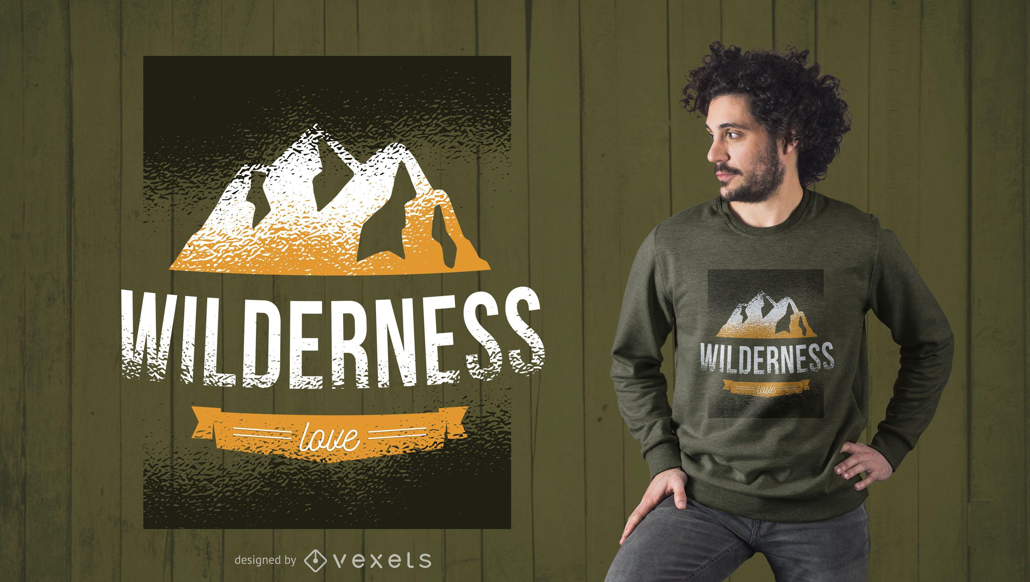 Wilderness Love Tshirt Design