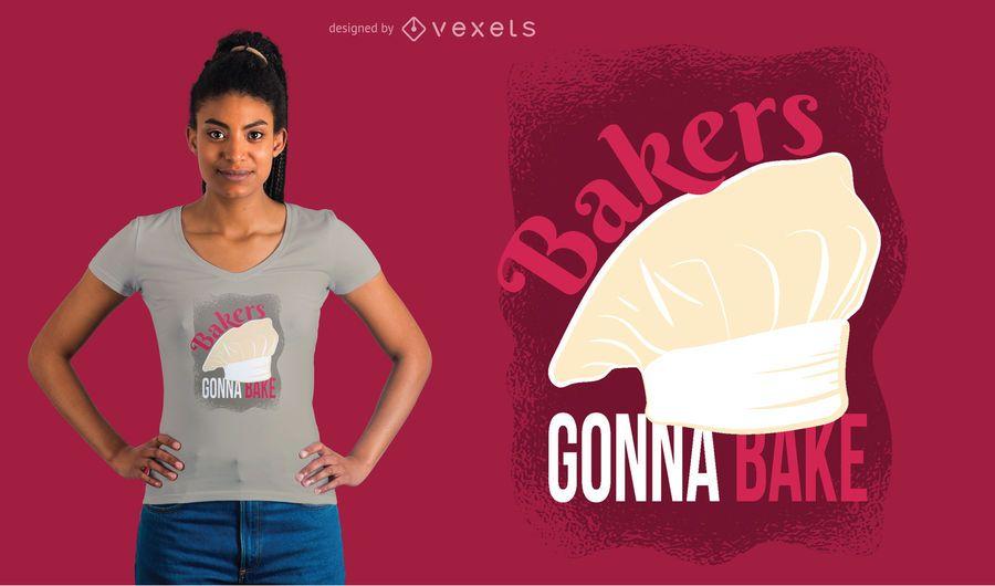 Padeiros, vai, cozer, t-shirt, desenho