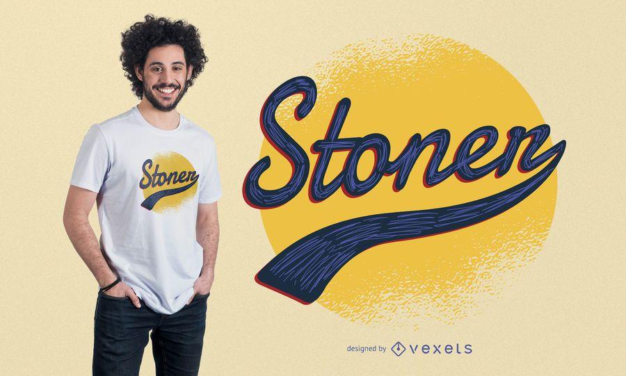 Vintage stoner design de t-shirt