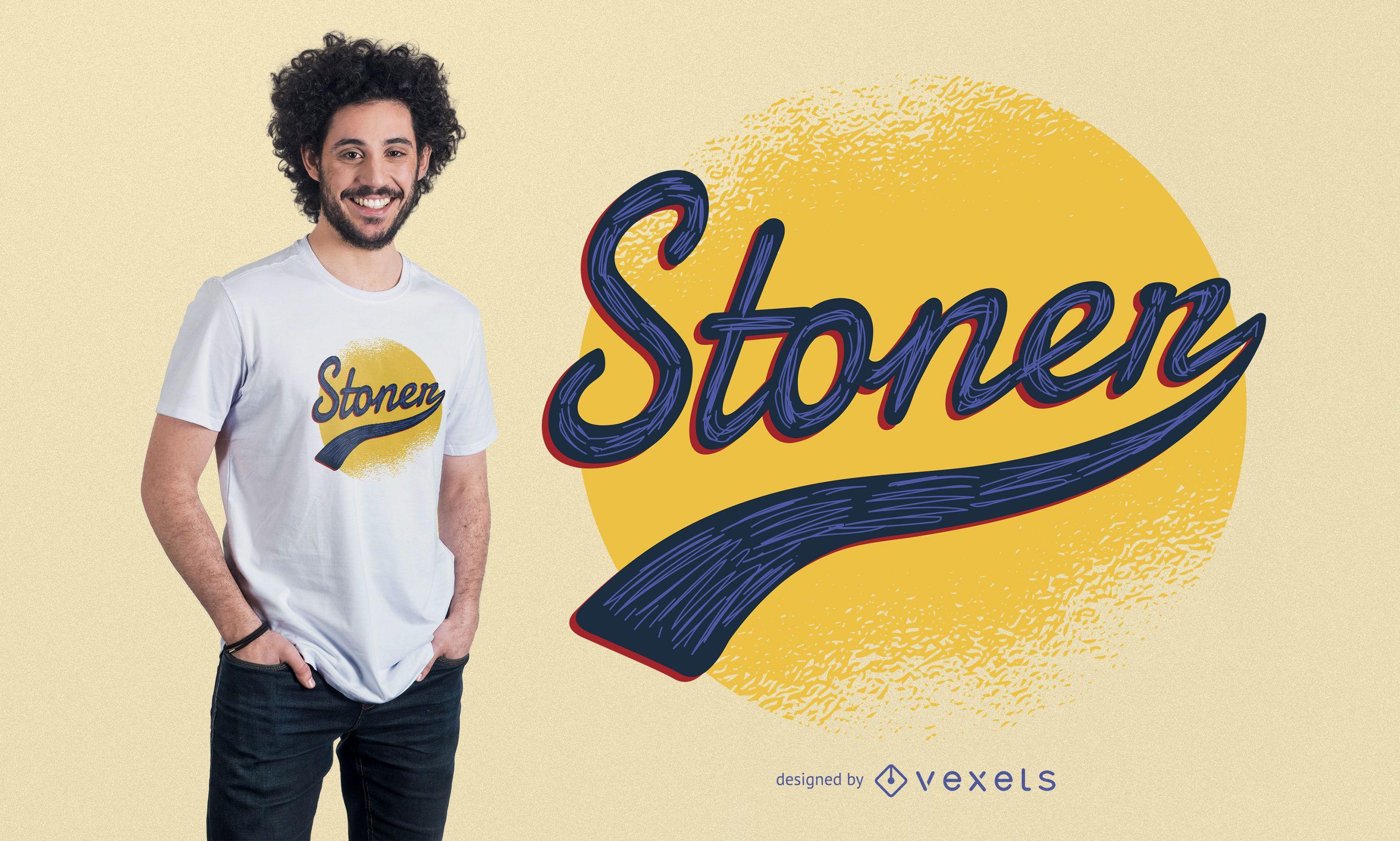 Design vintage de t-shirt stoner