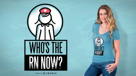 Quem é o RN agora Design de t-shirt
