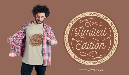 Diseño de camiseta de edición limitada