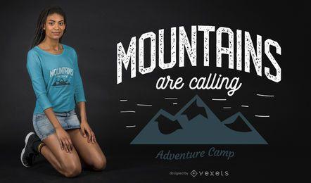 As montanhas estão chamando o projeto do t-shirt