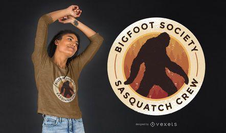 Projeto do t-shirt da sociedade de Bigfoot
