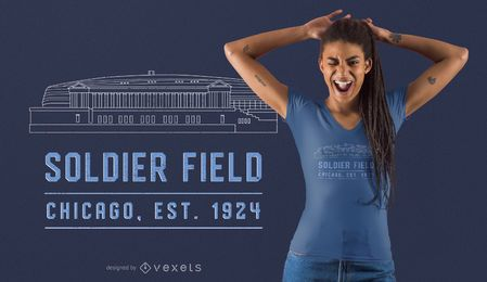 Diseño de camiseta del estadio Soldier Field