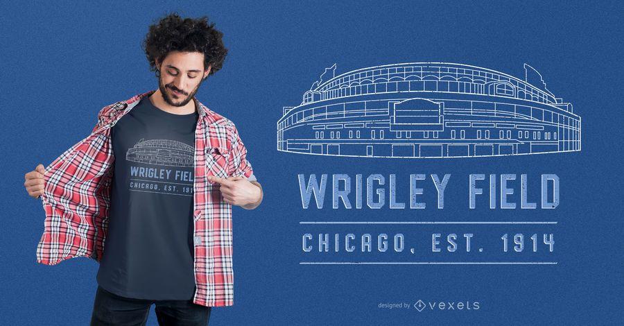 Wrigley Field Stadium t-shirt design