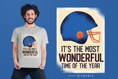 Diseño divertido de la camiseta de la cita del fútbol