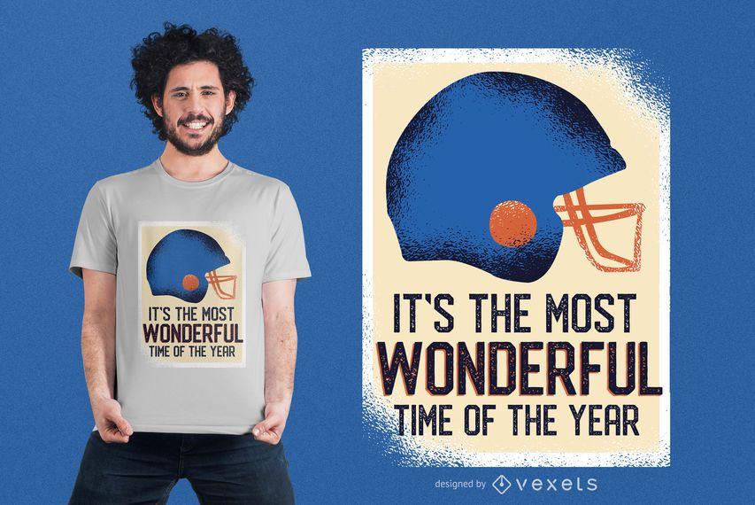 Design engraçado do t-shirt das citações do futebol
