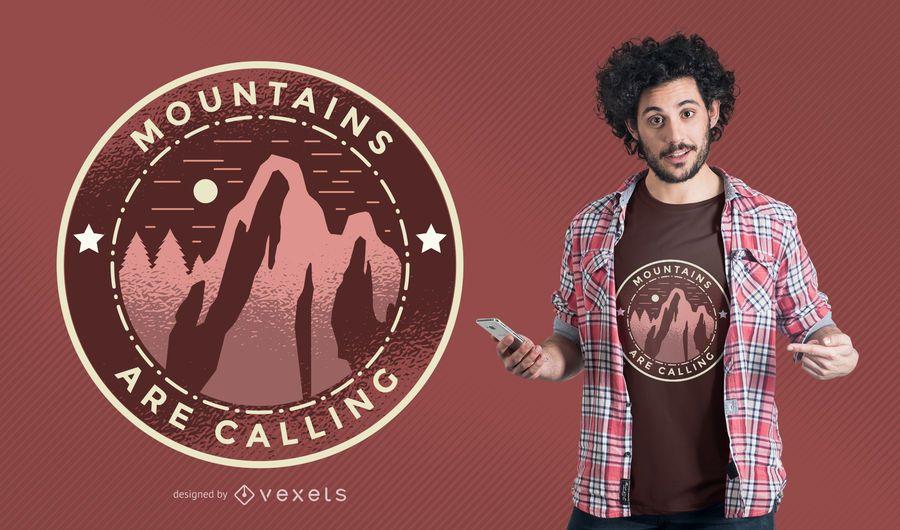 Montanhas Chamando T-shirt Design