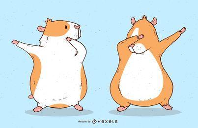 Tupfende Meerschweinchen-Vektor-Design