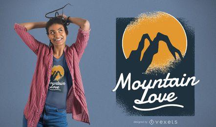 Projeto do t-shirt do amor da montanha