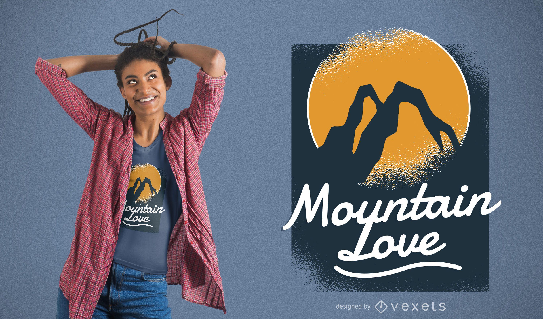 Mountain Love T-shirt Design